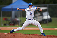 Pitt Panthers pitcher Dylan Lester (36) during the teams opening game of the season against the Indiana State Sycamores on February 19, 2021 at North Charlotte Regional Park in Port Charlotte, Florida.  (Mike Janes/Four Seam Images)