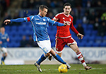 St Johnstone v Aberdeen...06.02.16   SPFL   McDiarmid Park, Perth<br /> Chris Millar and Kenny McLean<br /> Picture by Graeme Hart.<br /> Copyright Perthshire Picture Agency<br /> Tel: 01738 623350  Mobile: 07990 594431
