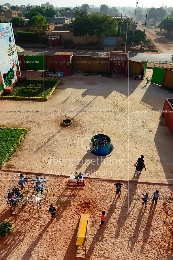 BURKINA FASO , Bobo Dioulasso, Good Shepherd Sisters / Die Schwestern vom Guten Hirten, Spielplatz des Kindergarten