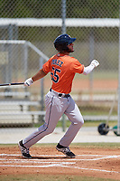 Houston Astros Joe Perez (55) during a Minor League Spring Training game against the St. Louis Cardinals on March 27, 2018 at the Roger Dean Stadium Complex in Jupiter, Florida.  (Mike Janes/Four Seam Images)