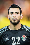 Goalkeeper Mutaz Yasin Alfityani of Jordan during the International Friendly match between Hong Kong and Jordan at Mongkok Stadium on June 7, 2017 in Hong Kong, China. Photo by Marcio Rodrigo Machado / Power Sport Images