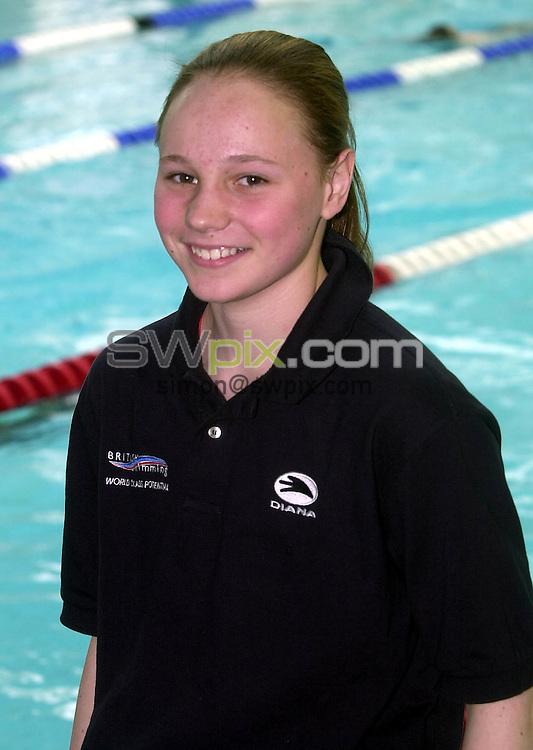 Pix: Matthew Lewis/SWpix.com. Swimming. World Class Potential Camp, Loughborough University. 11/03/03...COPYRIGHT PICTURE>>SIMON WILKINSON>>01943 436649>>..Emma Harrison.