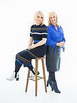 © Joel Goodman - 07973 332324 . 08/12/2017 . Cheshire , UK . ALI HALL and JULIE LAVINGTON of online only women's fashion retailer Sosandar in their Wilmslow design studio . Photo credit : Joel Goodman