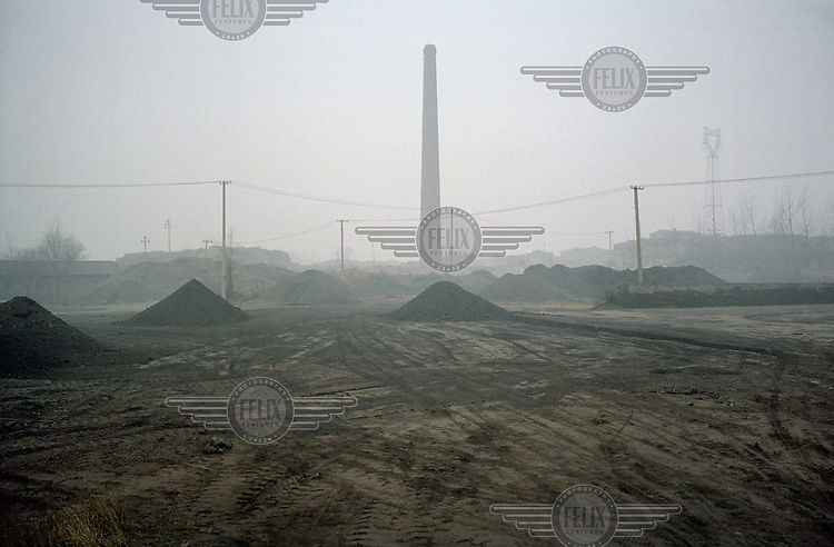 A brick factory in Linfen, one of the most polluted cities in China. Supplying a large part of the nation's energy, Shanxi is considered to be the centre of China's expanding coal industry. The huge demand for coal has led to the development of hundreds of often illegal and unregulated coal mines, excessive air pollution and many other environmental problems.