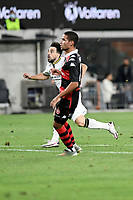 30th December 2020; Bankwest Stadium, Parramatta, New South Wales, Australia; A League Football, Western Sydney Wanderers versus Macarthur FC; Benat Etxebarria Urkiaga of Macarthur FC watches his free kick take a deflection to open the scoring in the 73rd minute, the goal was later awarded to Mark Milligan of Macarthur FC