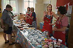 Petersham Village Richmond Surrey annual fete and flower show.  Tea and cake being served. 2010s 2010s 2011 UK