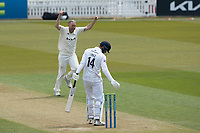 James Vince Knicks off and Rikki Clarke celebrates during Surrey CCC vs Hampshire CCC, LV Insurance County Championship Group 2 Cricket at the Kia Oval on 1st May 2021