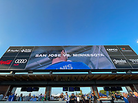 SAN JOSE, CA - AUGUST 17: Display before a game between Minnesota United FC and San Jose Earthquakes at PayPal Park on August 17, 2021 in San Jose, California.