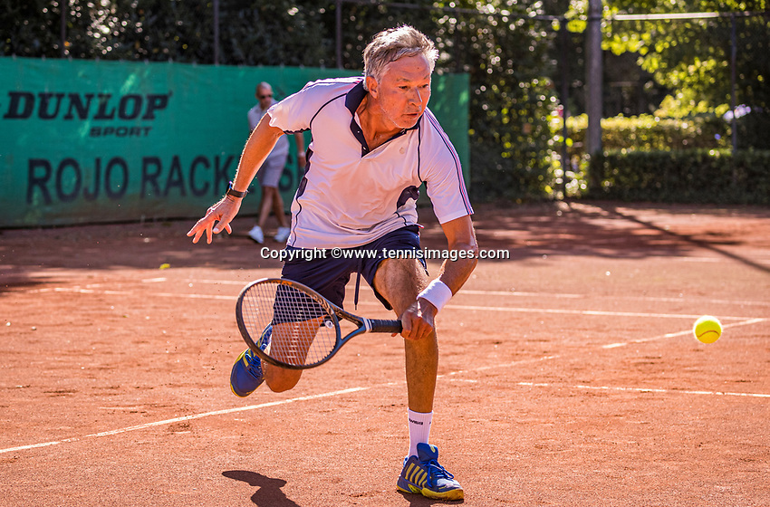 Hilversum, The Netherlands,  August 21, 2020,  Tulip Tennis Center, NKS, National Senior Tennis Championships, Men's single 65+, Rolf Thung (NED)<br /> Photo: Tennisimages/Henk Koster