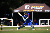 Auckland's Katie Perkins bats during the women's Dream11 Super Smash T20 cricket match between the Central Hinds and Auckland Hearts at Pukekura Park in New Plymouth, New Zealand on Thursday, 31 December 2020. Photo: Dave Lintott / lintottphoto.co.nz
