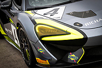The front livery of Harry Hayek & Katie Milner, McLaren 570S GT4, Team Rocket RJN during the British GT & F3 Championship on 10th July 2021