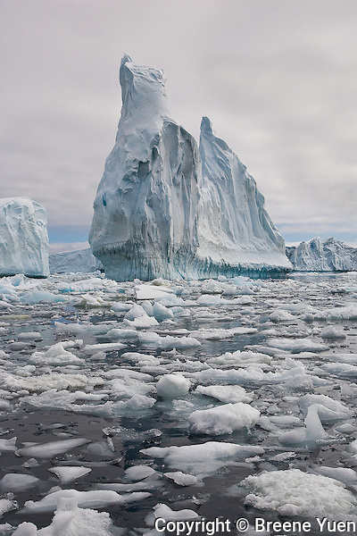 Ice formation and the icy water of the Lemaire Channel
