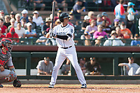Peoria Javelinas third baseman Hudson Potts (13), of the San Diego Padres organization, at bat during the Arizona Fall League Championship game against the Salt River Rafters at Scottsdale Stadium on November 17, 2018 in Scottsdale, Arizona. Peoria defeated Salt River 3-2 in 10 innings. (Zachary Lucy/Four Seam Images)