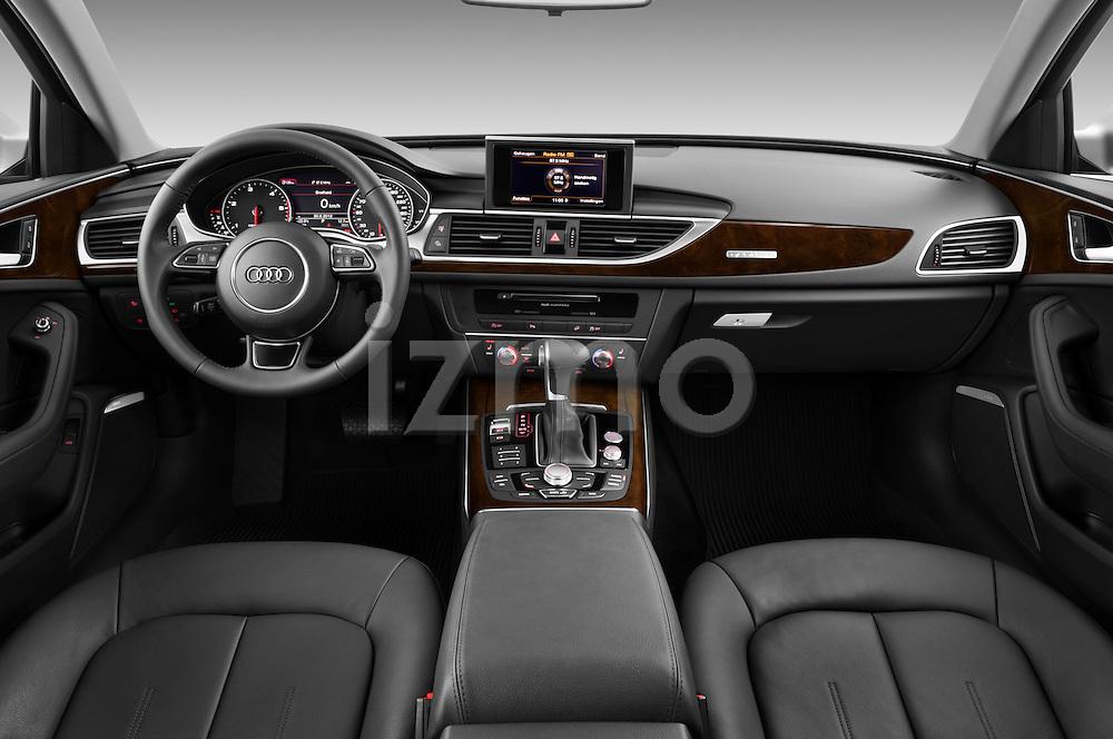 Straight dashboard view of a 2013 Audi A6 Allroad Quattro Wagon.