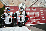 Tom Dumoulin (NED) and Team Sunweb at sign on before the start of the 2018 Strade Bianche NamedSport race running 184km from Siena to Siena, Italy. 3rd March 2018.<br /> Picture: LaPresse/Massimo Paolone | Cyclefile<br /> <br /> <br /> All photos usage must carry mandatory copyright credit (© Cyclefile | LaPresse/Massimo Paolone)