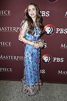 LOS ANGELES - JUN 8:  Lily Collins at the Les Miserables Photo Call at the Linwood Dunn Theater on June 8, 2019 in Los Angeles, CA