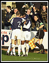 25/1/03       Copyright Pic : James Stewart                  .File Name : stewart-falkirk v hearts 15.COLLIN SAMUEL IS CONGRATULATED AFTER SCORING FALKIRK'S FIRST GOAL..........James Stewart Photo Agency, 19 Carronlea Drive, Falkirk. FK2 8DN      Vat Reg No. 607 6932 25.Office : +44 (0)1324 570906     .Mobile : + 44 (0)7721 416997.Fax     :  +44 (0)1324 570906.E-mail : jim@jspa.co.uk.If you require further information then contact Jim Stewart on any of the numbers above.........