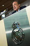 """MADRID (26/05/2010).- Real Madrid President Florentino Perez has revealed the club have decided that Jose Mourinho will succeed Manuel Pellegrini as the club's new coach. """"We have decided that Jose Mourinho will be the coach,"""" Perez told a press conference...Photo: Cesar Cebolla / ALFAQUI"""