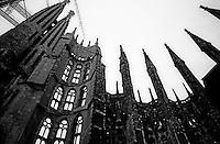 The Sagrada Família designed by Catalan architect Antoni Gaudí in Barcelona, Spain.