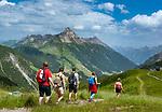 Austria, Vorarlberg, Warth: hiking-region Steffisalpe with Biberkopf mountain (2.599 m) | Oesterreich, Vorarlberg, Warth: Wandergebiet Steffisalpe mit Biberkopf (2.599 m)