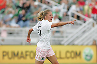 Amanda Cinalli celebrates her goal...Saint Louis Athletica defeated Sky Blue FC 1-0 at Anheuser-Busch Soccer Park, Saint Louis, MO.