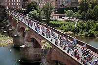 Race start over the 'Pont Vieux' in Albi<br /> <br /> Stage 11: Albi to Toulouse (167km)<br /> 106th Tour de France 2019 (2.UWT)<br /> <br /> ©kramon