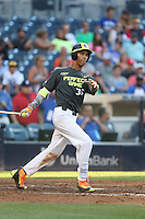 Avery Tuck (36) of the West team bats during the 2015 Perfect Game All-American Classic at Petco Park on August 16, 2015 in San Diego, California. The East squad defeated the West, 3-1. (Larry Goren/Four Seam Images)
