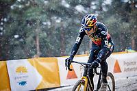 Belgian National Champion Wout van Aert (BEL/Jumbo-Visma) <br /> <br /> Elite Men's Race<br /> Zilvermeercross Mol (BEL) 2021<br /> <br /> ©Kramon