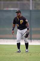 Pittsburgh Pirates Alexis Bastardo (25) during a minor league Spring Training game against the Toronto Blue Jays on March 24, 2016 at Pirate City in Bradenton, Florida.  (Mike Janes/Four Seam Images)