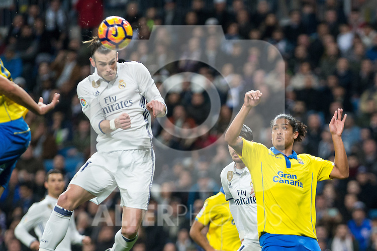 Garet Bale of Real Madrid during the match of Spanish La Liga between Real Madrid and UD Las Palmas at  Santiago Bernabeu Stadium in Madrid, Spain. March 01, 2017. (ALTERPHOTOS / Rodrigo Jimenez)