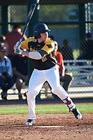Patrick Muskat (10) of Central Catholic School in Beaverton, Oregon during the Baseball Factory All-America Pre-Season Tournament, powered by Under Armour, on January 13, 2018 at Sloan Park Complex in Mesa, Arizona.  (Art Foxall/Four Seam Images)