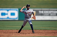 Detroit Tigers shortstop Cesar Calderon (35) during practice before a Florida Instructional League intrasquad game on October 17, 2020 at Joker Marchant Stadium in Lakeland, Florida.  (Mike Janes/Four Seam Images)