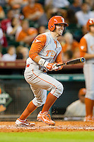 Tim Maitland #9 of the Texas Longhorns follows through on his swing against the Tennessee Volunteers at Minute Maid Park on March 3, 2012 in Houston, Texas.  The Volunteers defeated the Longhorns 5-4.  (Brian Westerholt/Four Seam Images)