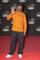 MC Solaar sur le Tapis Rouge / Red Carpet avant la Ceremonie des 19 EME NRJ MUSIC AWARDS 2017, Palais des Festivals et des Congres, Cannes Sud de la France, samedi 4 novembre 2017.