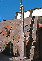 F.L. Wright: Taliesin West. Sculpture.  Photo '77.