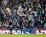 Martin Woods celebrates scoring from the spot