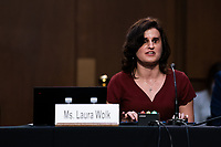 Laura Wolk speaks during the fourth day of the confirmation hearing for Judge Amy Coney Barrett, President Donald Trump's Nominee for Supreme Court, in Hart Senate Office Building in Washington DC, on October 15th, 2020.<br /> Credit: Anna Moneymaker / Pool via CNP /MediaPunch