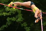 USA's Jenn Suhr makes it up and over in pole vault at the 15ft and 7 inch mark. The New York Invite Series was hosted at White Birch Golf Course in Lyndonville, New York on May 31, 2013