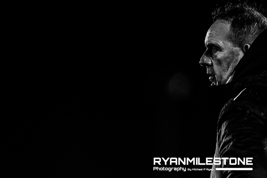 Derry City Manager Kenny Shiels during the SSE Airtricity League Premier Division game between Waterford FC and Derry City on Friday 16th February 2018 at the RSC Waterford. Photo By: Michael P Ryan