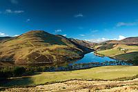 Glencorse Reservoir and Turnhouse Hill from the slopes of Castlelaw, The Pentland Hills Regional Park, Lothian