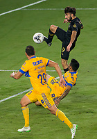 22nd December 2020, Orlando, Florida, USA;  LAFC Diego Rossi scores the first goal  of the game during the Concacaf Champions League Final between the LAFC and Tigres on December 22, 2020 at Explorer Stadium in Orlando, FL.