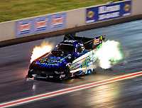 Jul 20, 2019; Morrison, CO, USA; NHRA funny car driver Tim Wilkerson during qualifying for the Mile High Nationals at Bandimere Speedway. Mandatory Credit: Mark J. Rebilas-USA TODAY Sports
