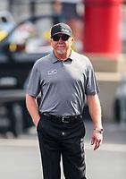 Oct 12, 2019; Concord, NC, USA; NHRA top fuel crew chief Alan Johnson during qualifying for the Carolina Nationals at zMax Dragway. Mandatory Credit: Mark J. Rebilas-USA TODAY Sports