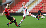 Mollie Green of Manchester United Women and Hannah Churchill of Charlton Athletic Women