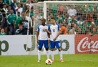 Mexico City, Mexico - Sunday June 11, 2017: Darlington Nagbe, Christian Pulisic during a 2018 FIFA World Cup Qualifying Final Round match with both men's national teams of the United States (USA) and Mexico (MEX) playing to a 1-1 draw at Azteca Stadium.
