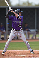 Colorado Rockies third baseman Bobby Wernes (41) during a Minor League Spring Training game against the Los Angeles Angels at Tempe Diablo Stadium Complex on March 18, 2018 in Tempe, Arizona. (Zachary Lucy/Four Seam Images)