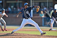 Asheville Tourists staring pitcher Johendi Jiminian #31 delivers a pitch during a game against the Lakewood BlueClaws at McCormick Field on May 3, 2014 in Asheville, North Carolina. The BlueClaws defeated the Tourists 7-4. (Tony Farlow/Four Seam Images)