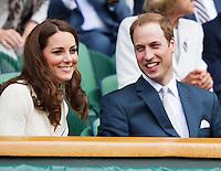04-07-12, England, London, Tennis , Wimbledon,  Royal box with Kate Middleton and Prince William