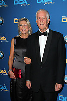 CENTURY CITY, CA - JANUARY 25: Paige Simpson and Michael Apted at the 66th Annual Directors Guild of America Awards at the Hyatt Regency Century Plaza on January 25, 2014 in Century City, California. <br /> CAP/MPI/JO<br /> ©JO/MPI/Capital Pictures