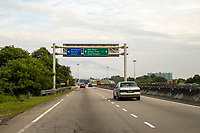 Malaysia. Roadway Signs on Highway AH2 between Ipoh and Taiping.